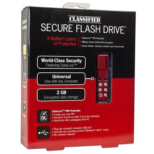 Classified DataLock CSD 8300 2GB Flash Drive Red