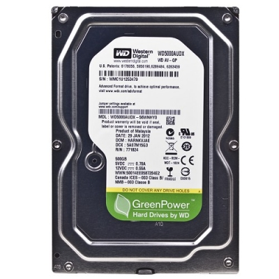 Western Digital AV-GP WD5000AUDX 500GB SATA Hard Drive