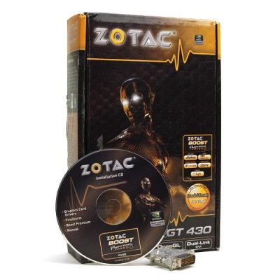 ZOTAC GeForce GT 430 1GB DDR3 PCI Express (PCIe) DVI Video Card
